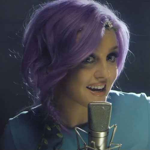 perrie-edwards-purple-hair-braid